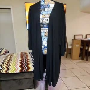 Cardigan black 5x 3/4 sleeve